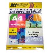 Фотобумага матовая односторонняя (Hi-image paper) A4, 110 г/м, 100 л.