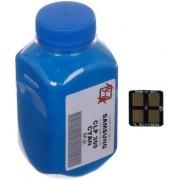 Тонер + чип SAMSUNG CLP-300 Cyan (АНК, 1500220)