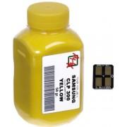 Тонер + чип SAMSUNG CLP-300 Yellow (АНК,1500240)