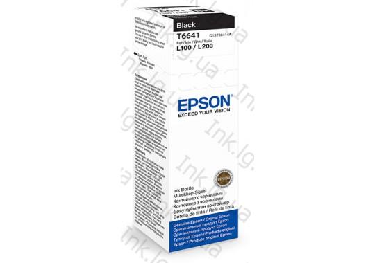Контейнер с чернилами EPSON T6641 black   C13T66414A