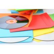 Бумажный конверт под диск цветной