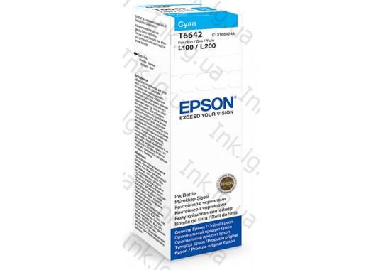 Контейнер с чернилами EPSON T6642 Cyan C13T66424A