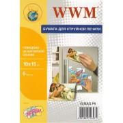 Фотобумага WWM глянцевая на магнитной основе 10х15, 5л.