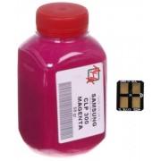 Тонер + чип SAMSUNG CLP-300 Magenta (АНК, 1500230)