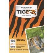 Фотобумага TIGER высокоглянцевая, 180г/м2, 10х15, 100л.