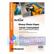 Фотобумага Detech глянец 180 гр./м кв. Формат А4. 50 листов пачка.