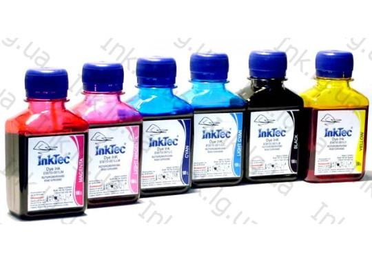 Комплект чернил InkTec E0010 для Epson (6х100г.)