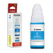 Чернила Canon GI-490C Pixma G1400/2400/3400 Cyan ( 70г.) 0664C001 ( О. )