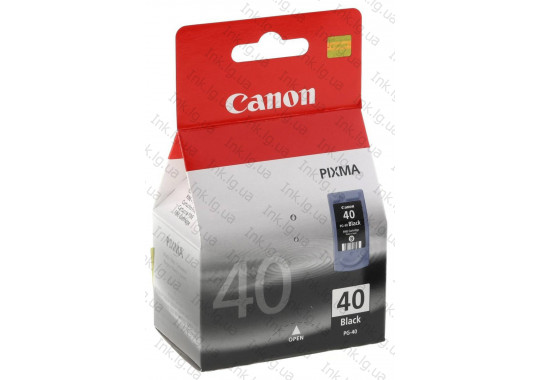 Картридж Canon PG-40 Black Pixma IP1600/2200/MP-150/170/450 (O)